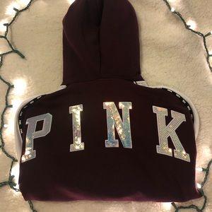 VS PINK Bling Full Zip Jacket